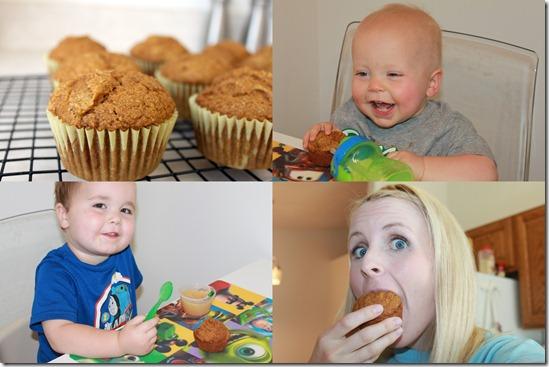 pumpkin muffins collage