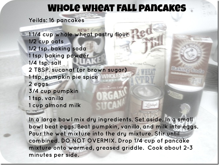 Whole wheat fall pancakes recipe